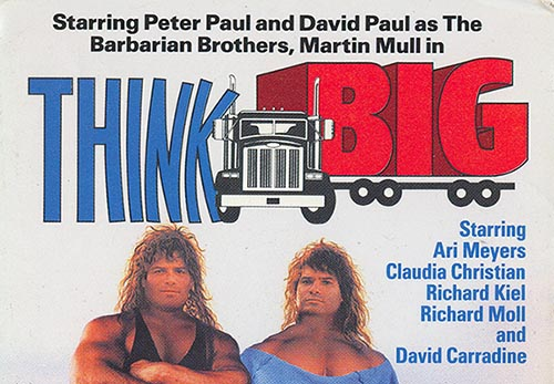 think big movie script official claudia christian store